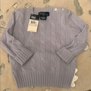 Ralph Lauren Cashmere Cable Knit Sweater 12m